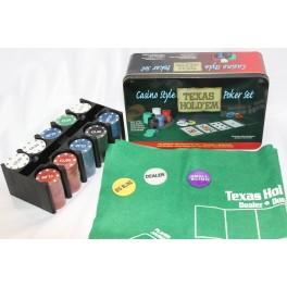 Juego Poker + mantel caja metal 2 barajas - CONSULTAR