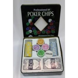 Juego- Poker caja metal 2 barajas - CONSULTAR PRECIO